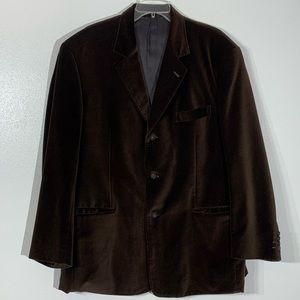Elevee Custom Made Brown Velvet Sports Coat 48R